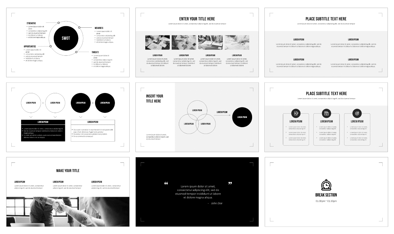 Simply Minimalist Style Google Slides Themes PowerPoint Templates Free download