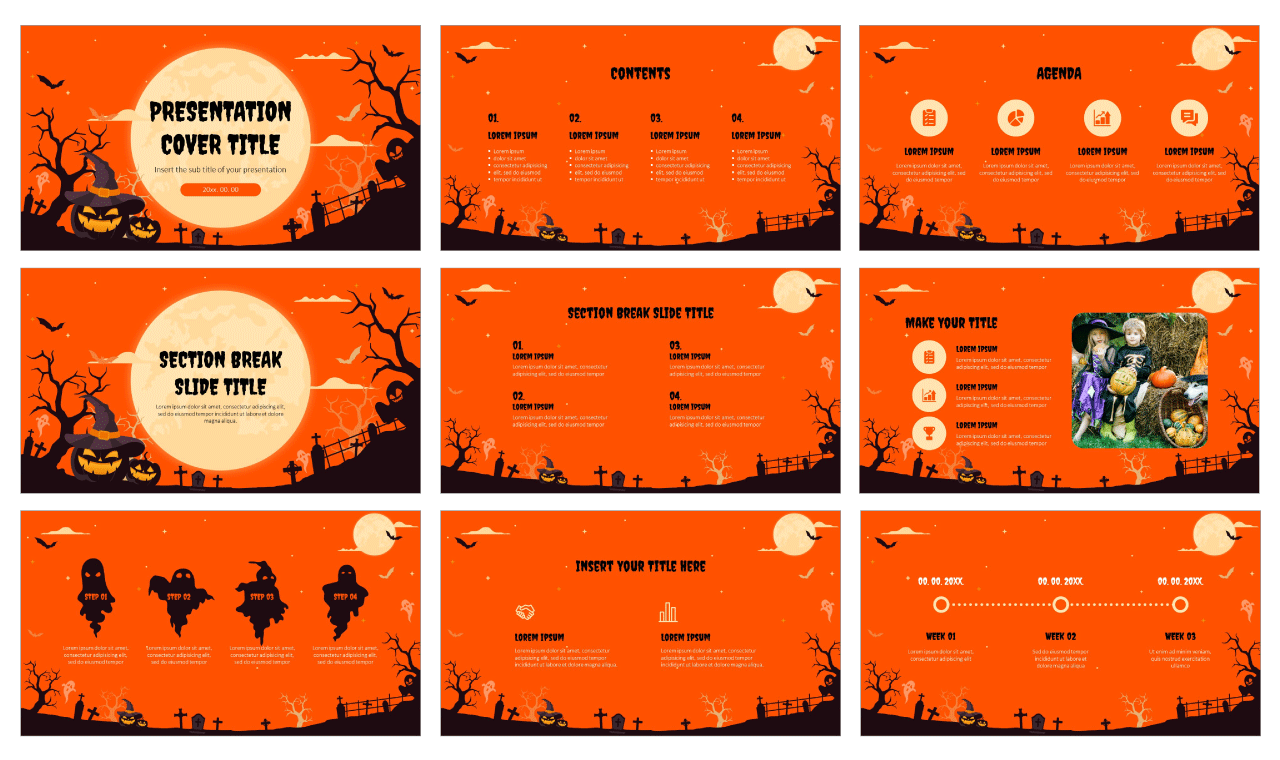 Spooky Halloween Party Free Google Slides Themes PowerPoint Templates