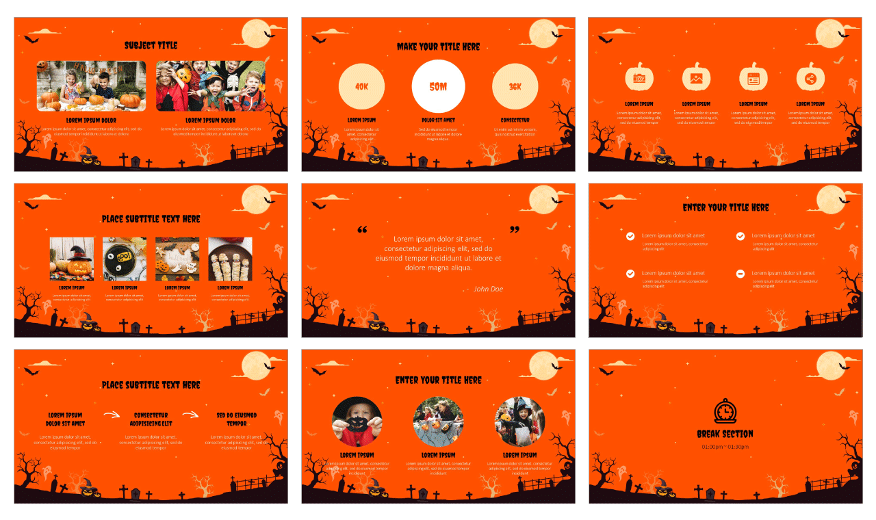 Spooky Halloween Party Google Slides Theme PowerPoint Template Free download