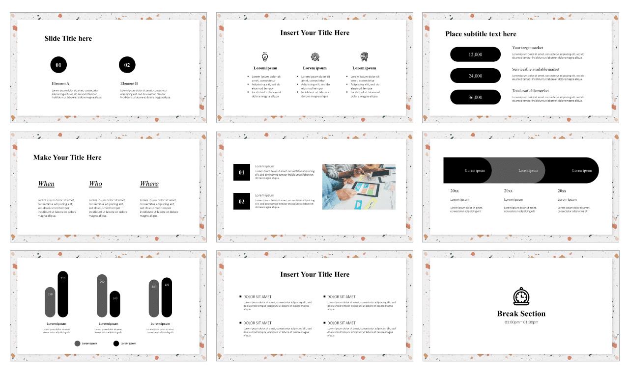 Terrazzo seamless pattern Google Slides theme PowerPoint Design Templates Free download