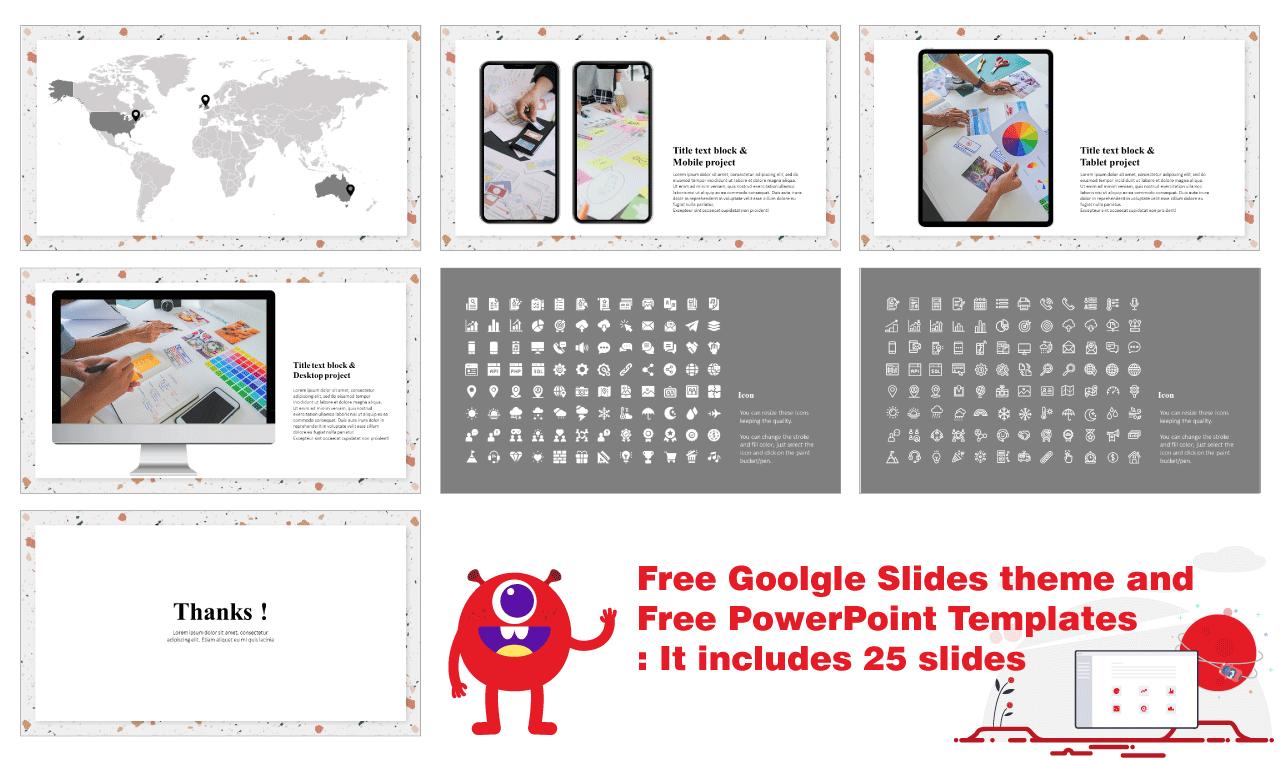 Terrazzo seamless pattern Presentation Background Design Google Slides theme PoerPoint Templates Free download