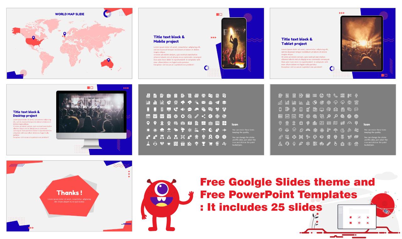 Universal Trend Geometric Presentation Background Design Google Slides Theme PowerPoint Template Free download