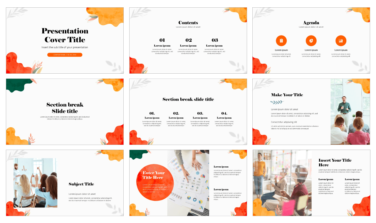 Watercolor Waves Free Google Slides Themes PowerPoint Templates
