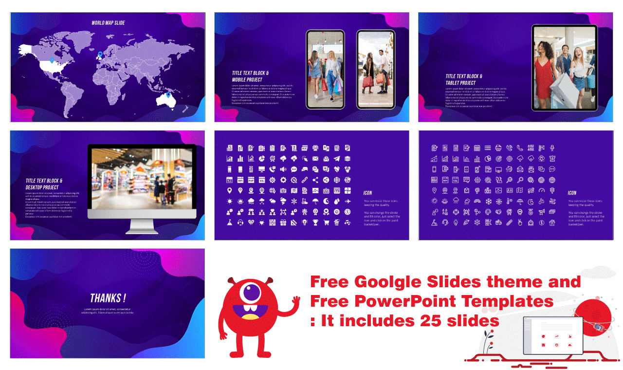Wave Black Friday Presentation Design Google Slides themes PowerPoint templates Free download