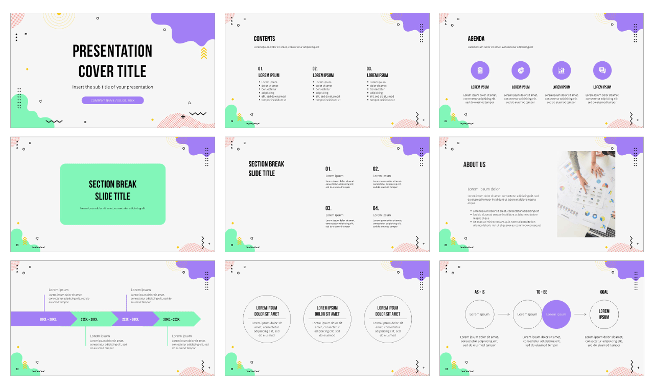 Abstract Wave Design Free Google Slides Theme PowerPoint Template