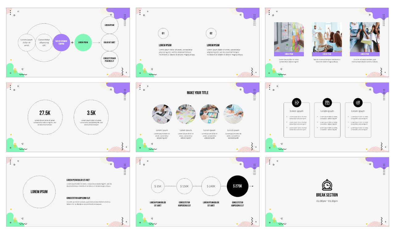 Abstract Wave Design Google Slides Theme PowerPoint Template Free Download