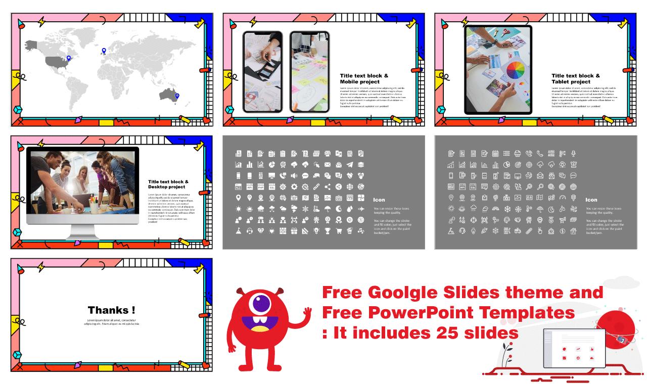 Advertising Trends Presentation Background Design Google Slides theme PowerPoint template Free download