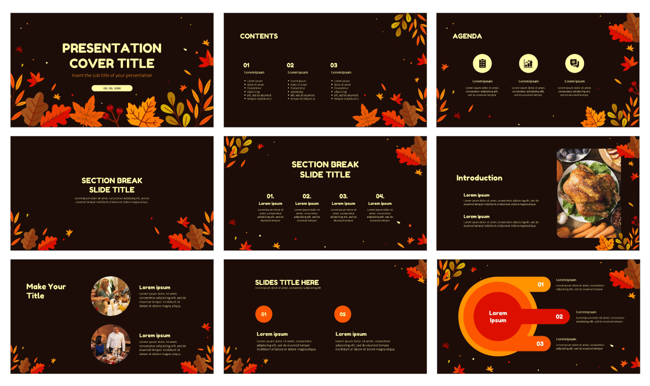 Autumn Thanksgiving Day Free Google Slides theme and PowerPoint template
