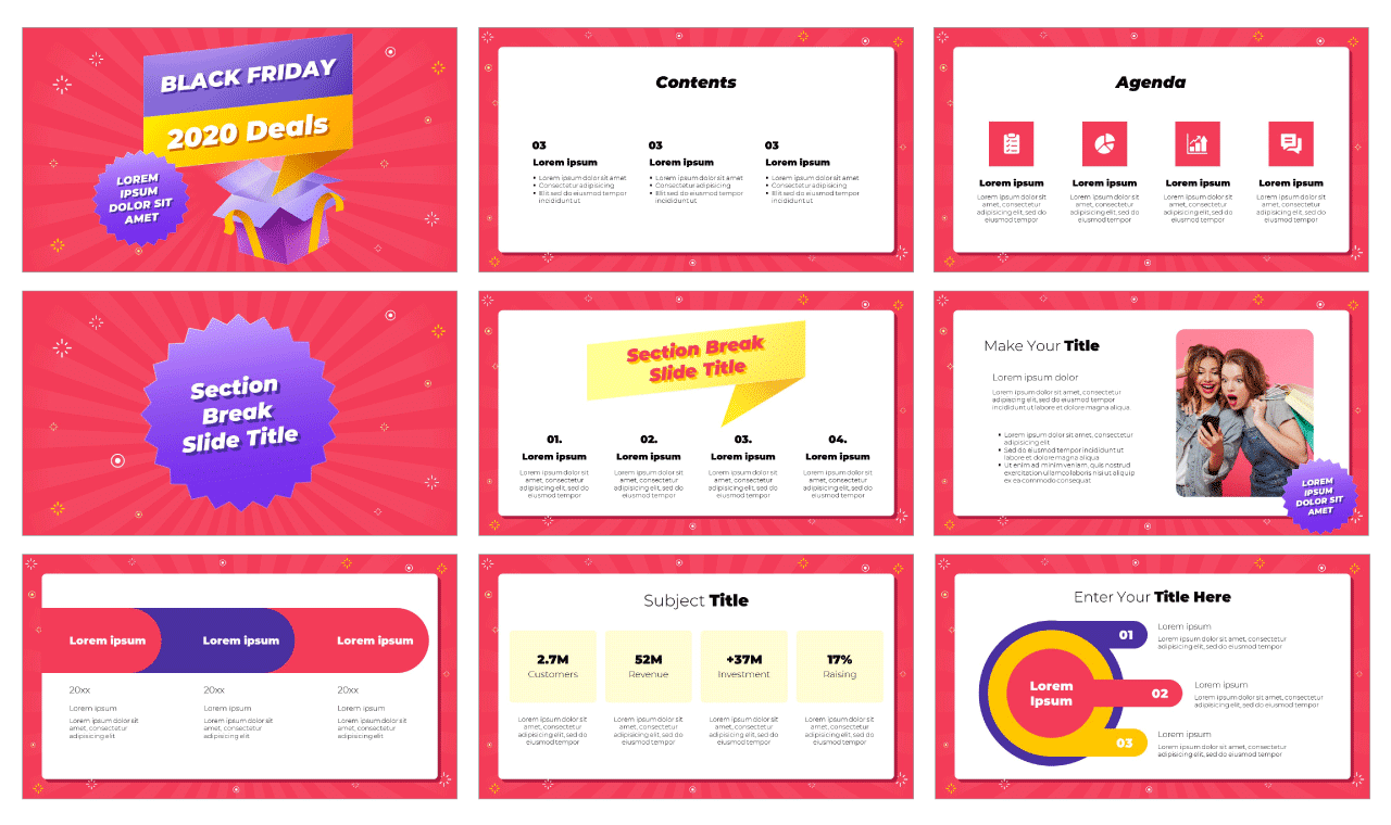 Black Friday Deals Free Google Slides Theme and PowerPoint Template