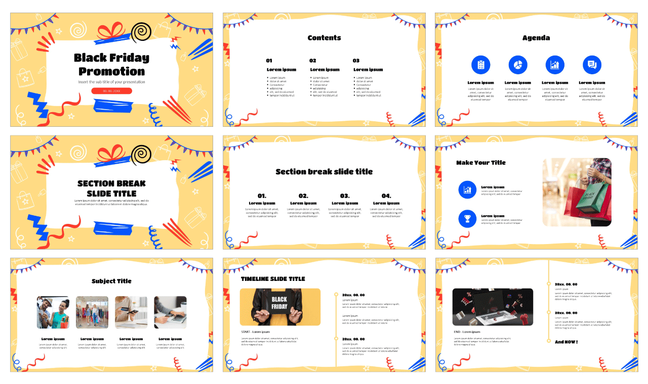 Black Friday Promotion Free Google Slides Theme and PowerPoint Template