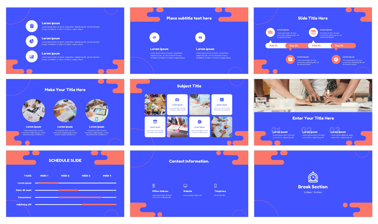 Blue Fluid Business Plan PowerPoint templates Google Slides themes Free download