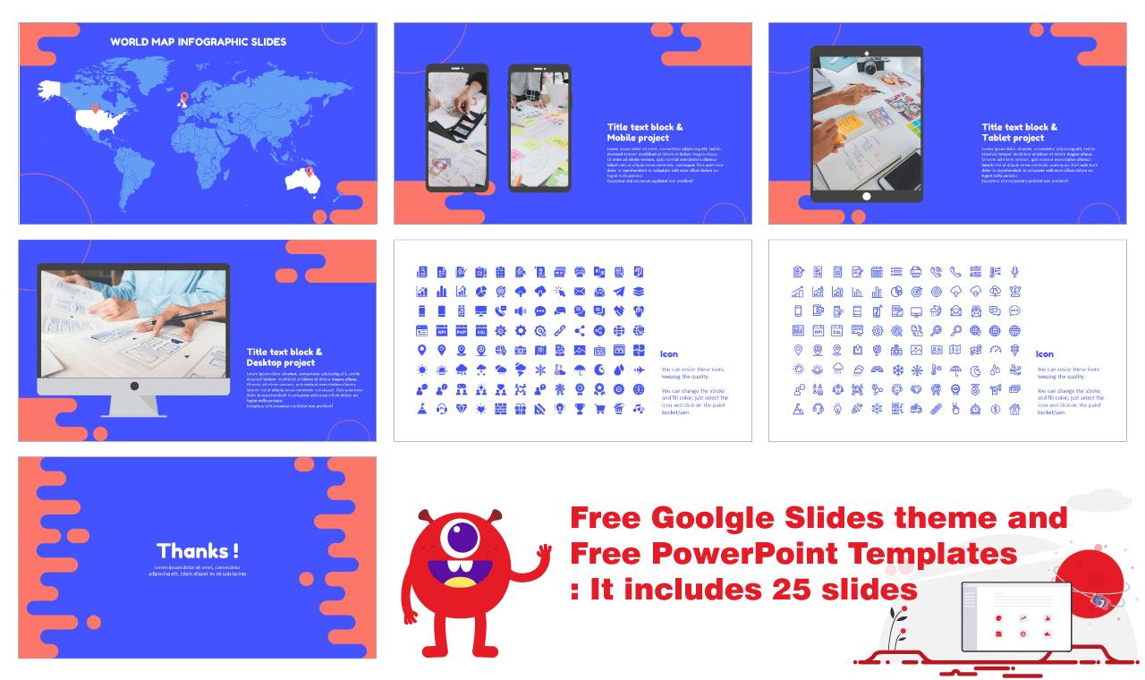 Blue Fluid Business Plan Presentation Background Design Google Slides theme PowerPoint template Free download