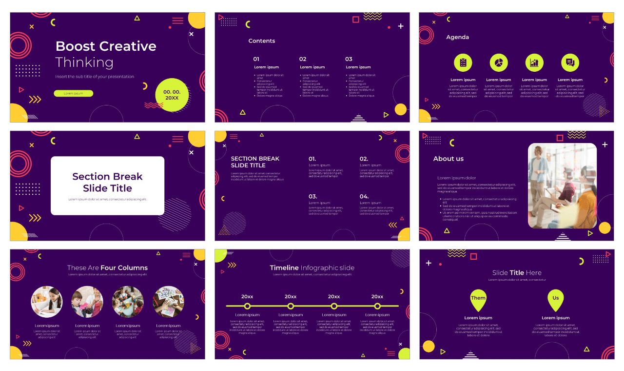 Boost Creative Thinking Free Google Slides Theme PowerPoint Template