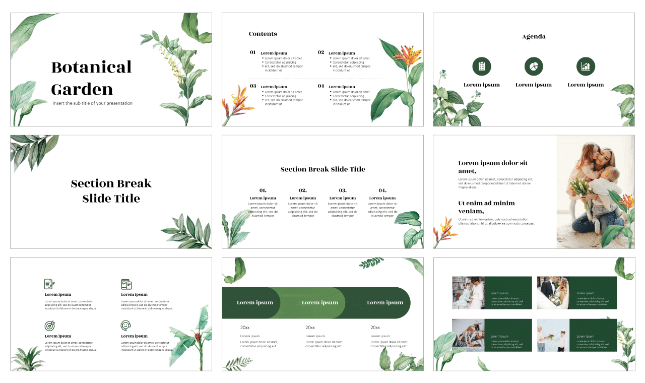 Botanical Garden Free Google Slides Theme PowerPoint Template