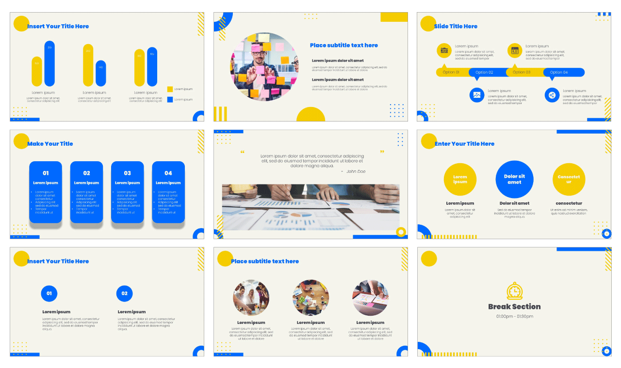 Business Meeting Google Slides Theme PowerPoint Template Free Download