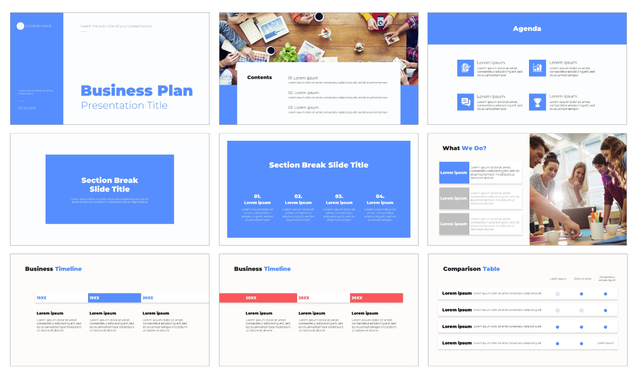 Business Plan Layout Free google slides theme powerpoint template