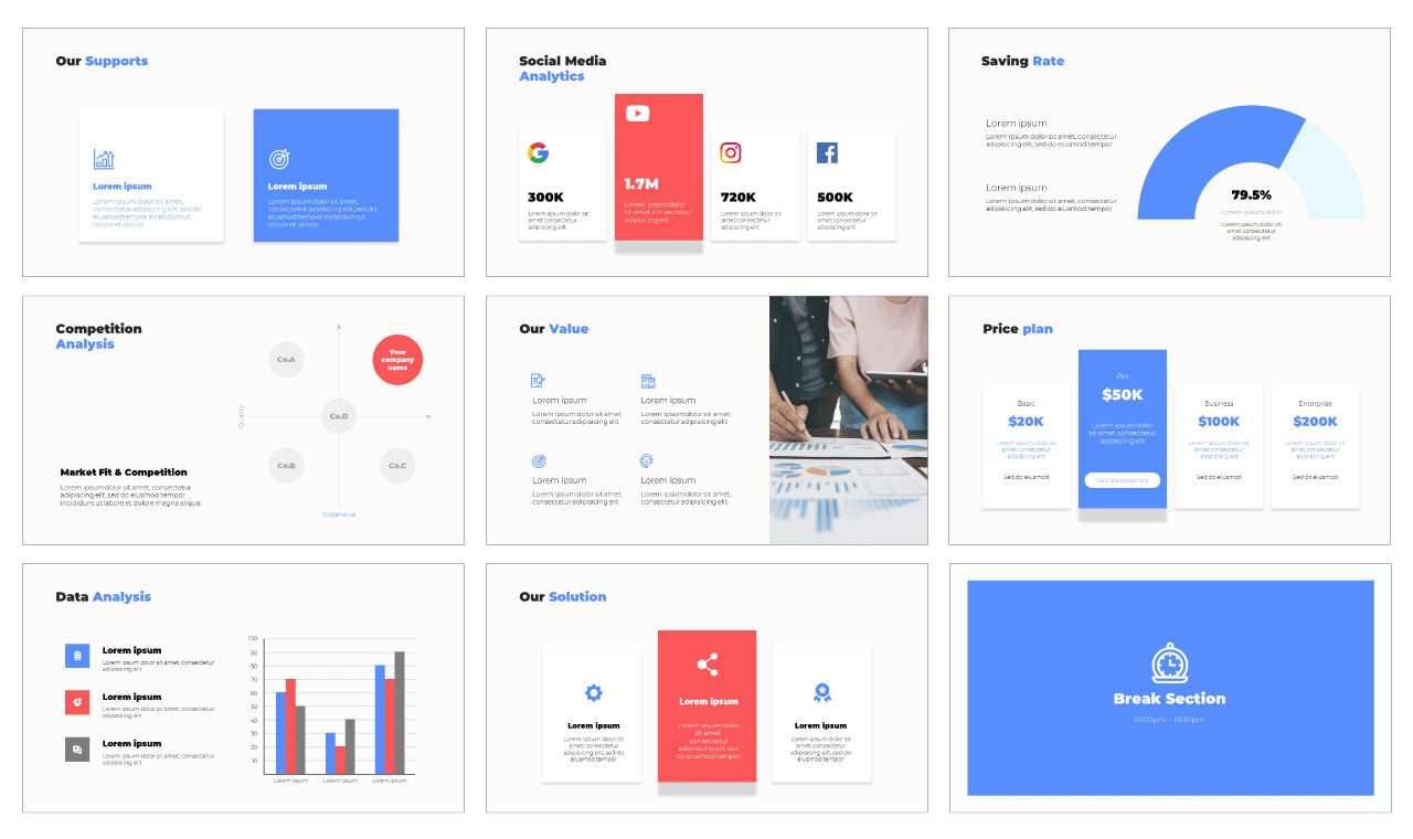 Business Plan Layout google slides them powerpoint template free download