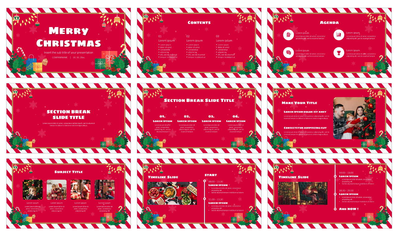 Christmas Card Free Google Slides Theme PowerPoint Template