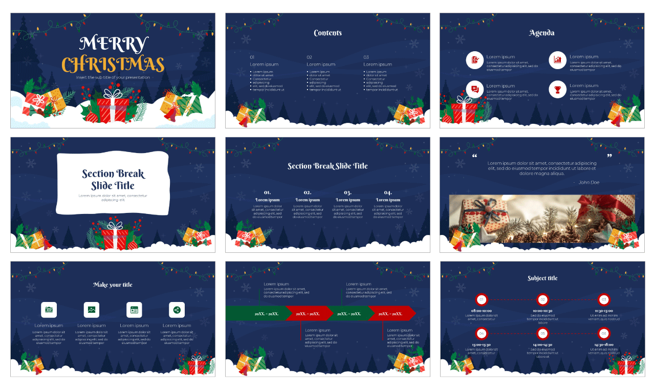 Christmas Gift Free Google Slides Theme and PowerPoint Template