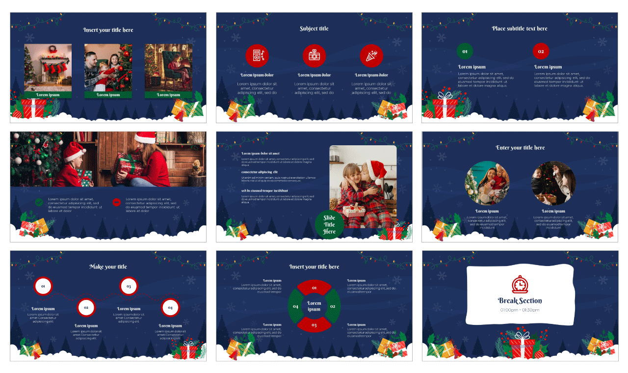 Christmas Gift Google Slides Theme and PowerPoint Template Free Download