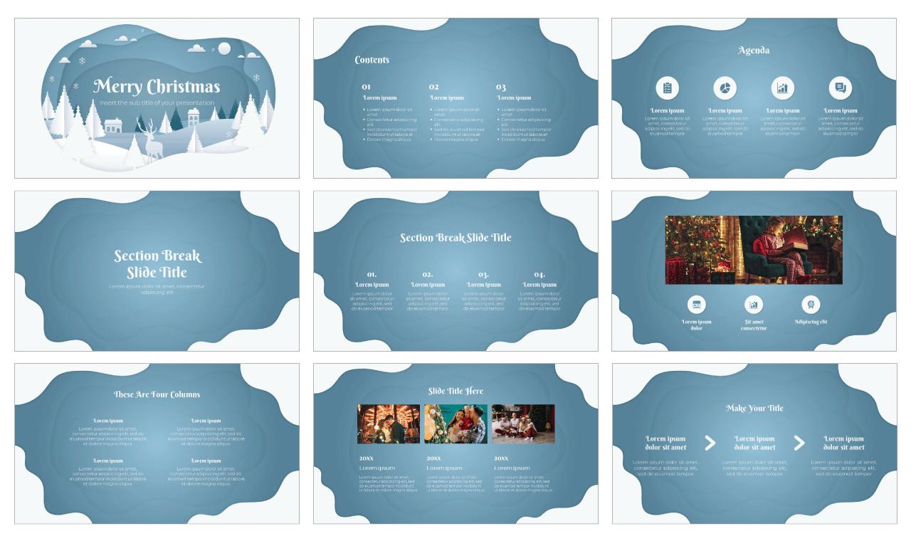 Christmas Scene Free Google Slides Them PowerPoint Template