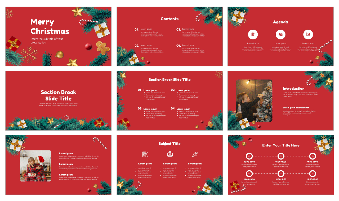 Christmas Tree Free Google Slides Theme and PowerPoint Template