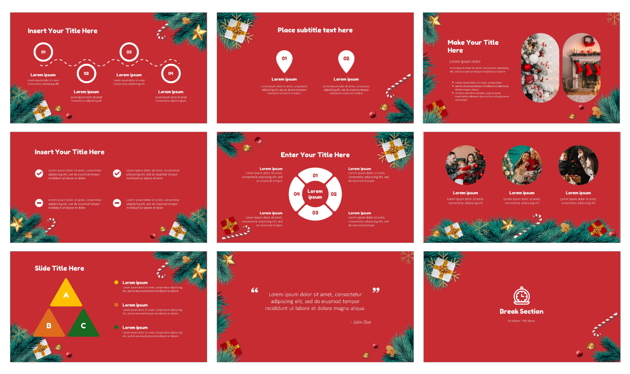 Christmas Tree Google Slides Theme and PowerPoint Template Free download