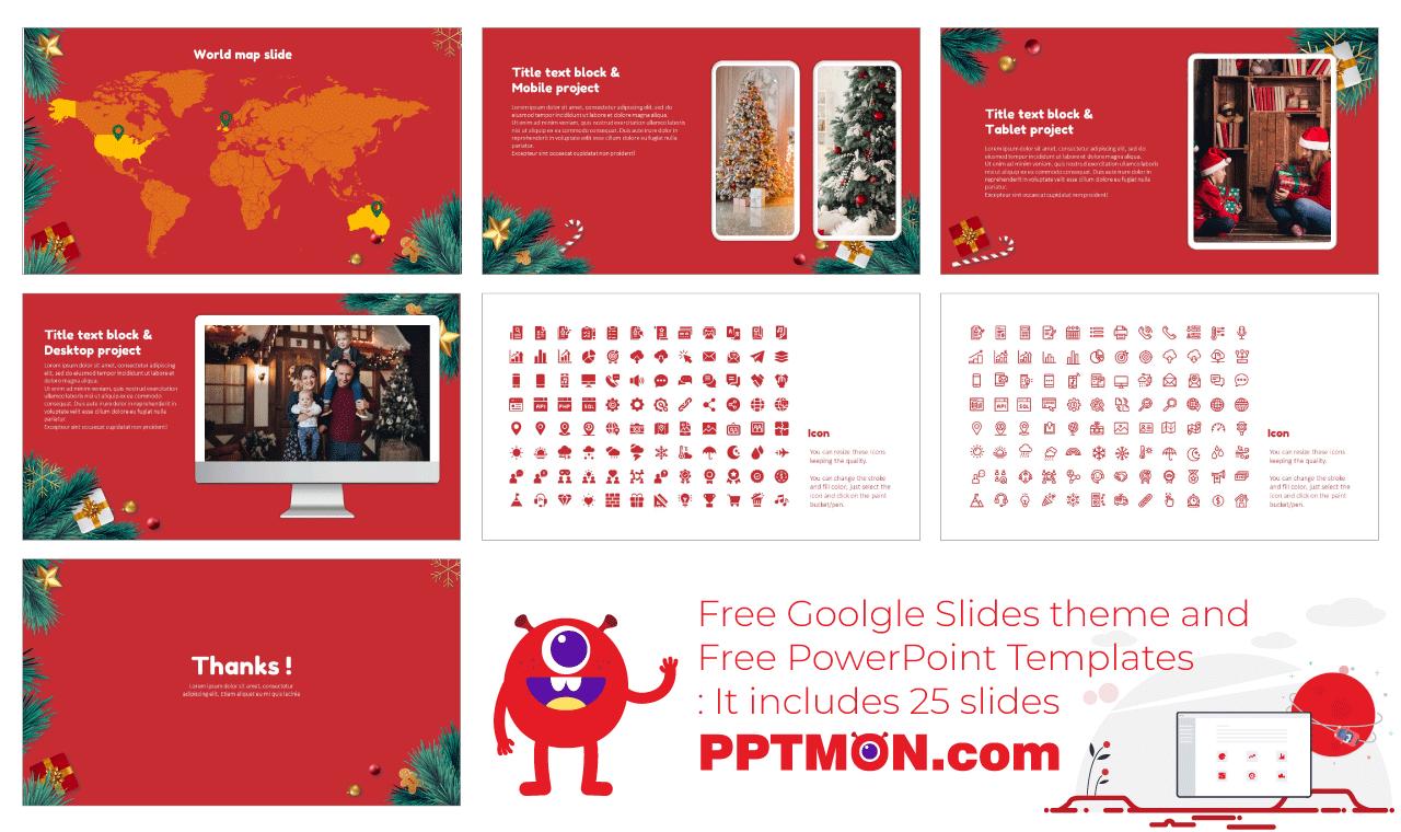 Christmas Tree Presentation Background Design Free Google Slides Theme PowerPoint Template