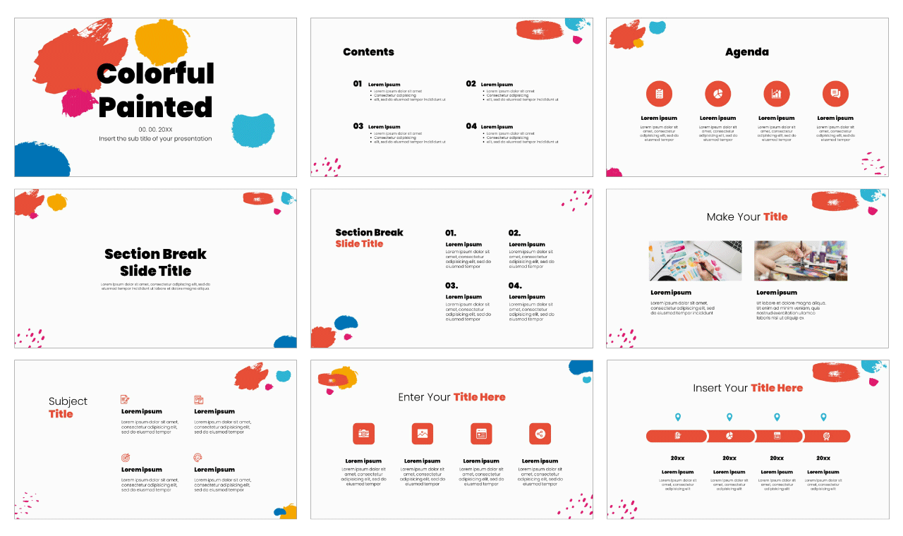 Colorful Free PowerPoint Template Google Slides Theme
