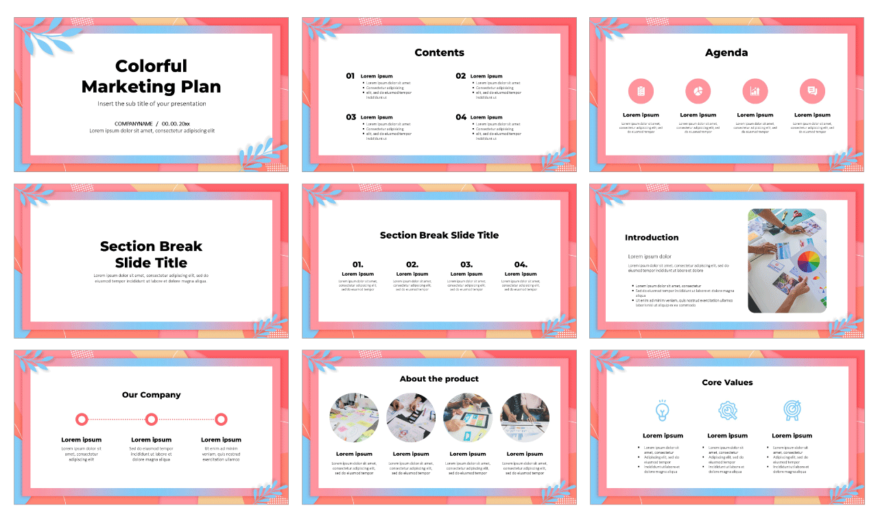 Colorful Marketing Plan Free Google Slides Theme and PowerPoint Template