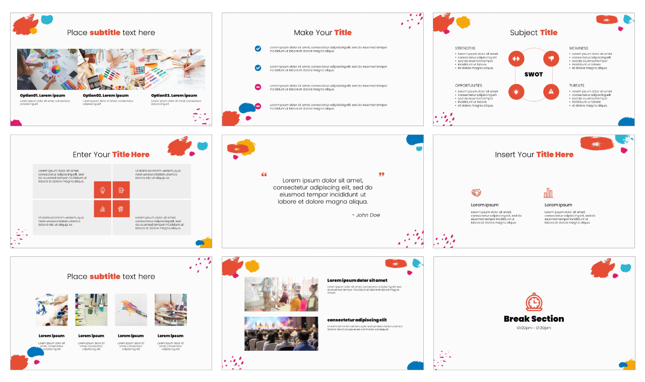 Colorful PowerPoint Template Google Slides Free download
