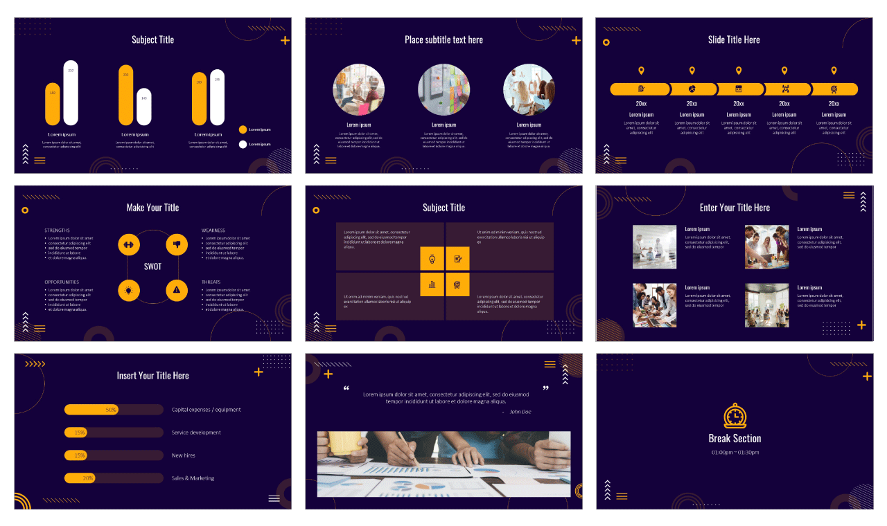 Consulting Google Slides Theme PowerPoint Template Free Download