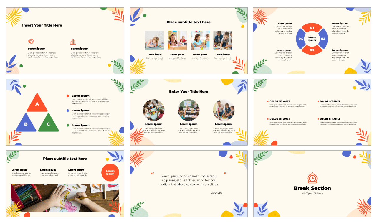 Creative Artistic PowerPoint Template Google Slides Theme Free download