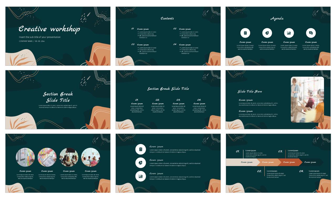 Creative workshop Free PowerPoint Template Google Slides Theme
