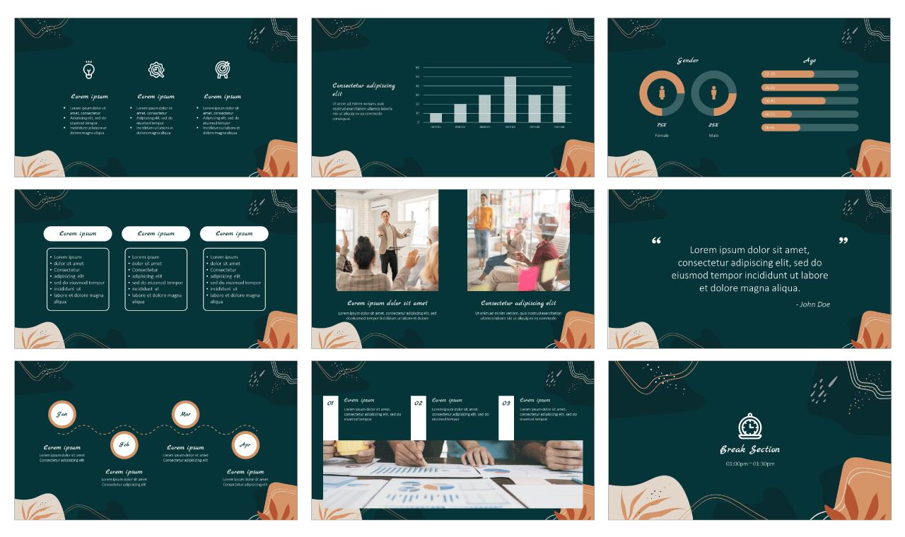 Creative workshop PowerPoint Template Google Slides Theme Free download