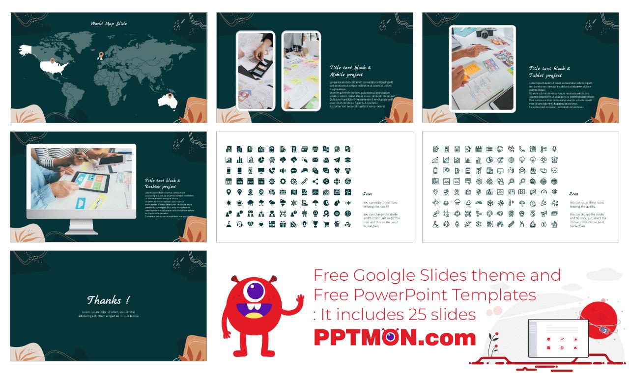 Creative workshop Presentation Background design Free PowerPoint Template Google Sldies Theme