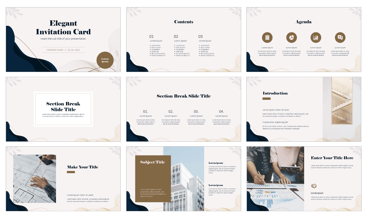 Elegant Invitation Card Free Google Slides Theme and PowerPoint Template