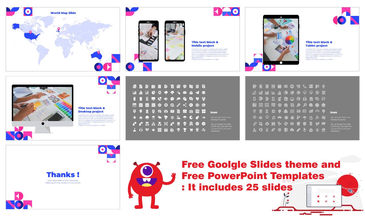 Geometric Graphic Design Presentation Background Google Slides theme PowerPoint template Free download