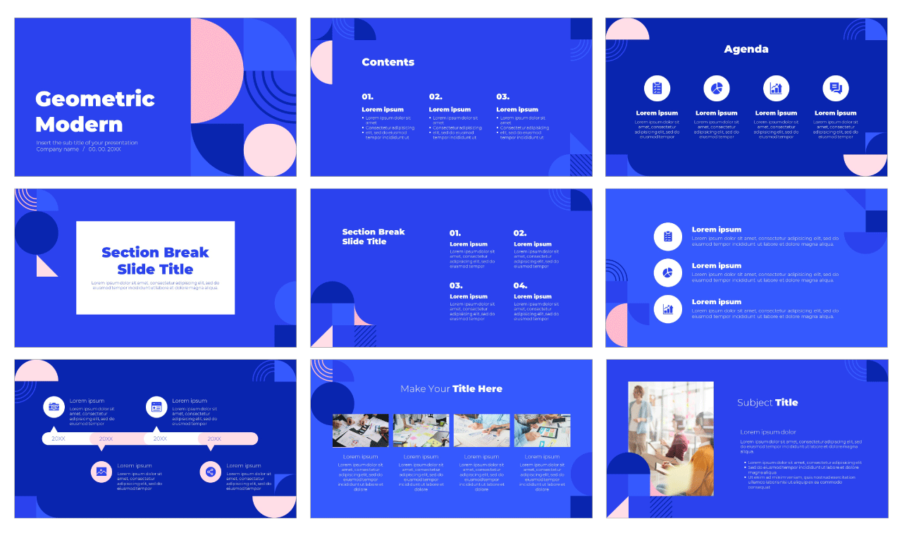 Geometric Modern Free Google Slides Theme PowerPoint Template