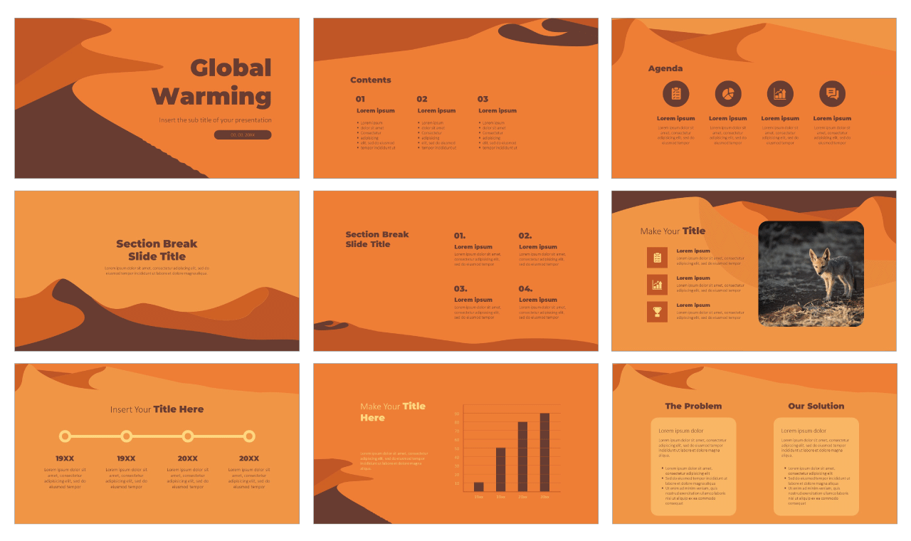 Global Warming Free PowerPoint Templates and Google Slides Themes