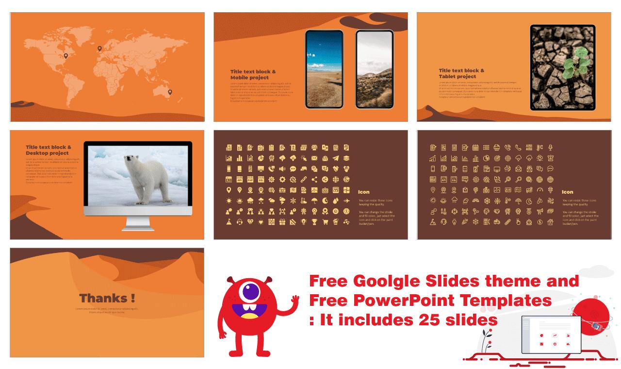Global Warming Presentation Background Design PowerPoint template Google Slides theme