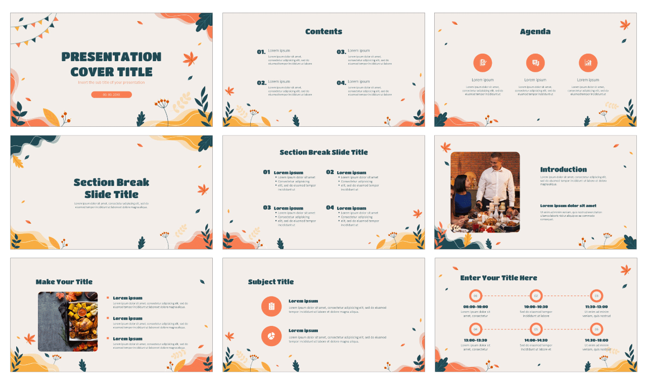 Happy Thanksgiving Day Free PowerPoint Templates and Google Slides Themes