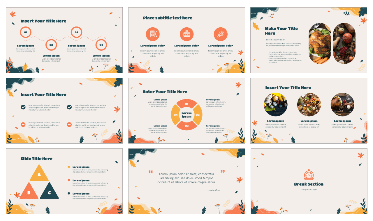 Happy Thanksgiving Day PowerPoint Templates Google Slides Themes Free download