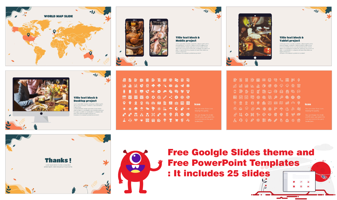 Happy Thanksgiving Day Presentation Background Design Google Slides Theme PowerPoint Template Free download