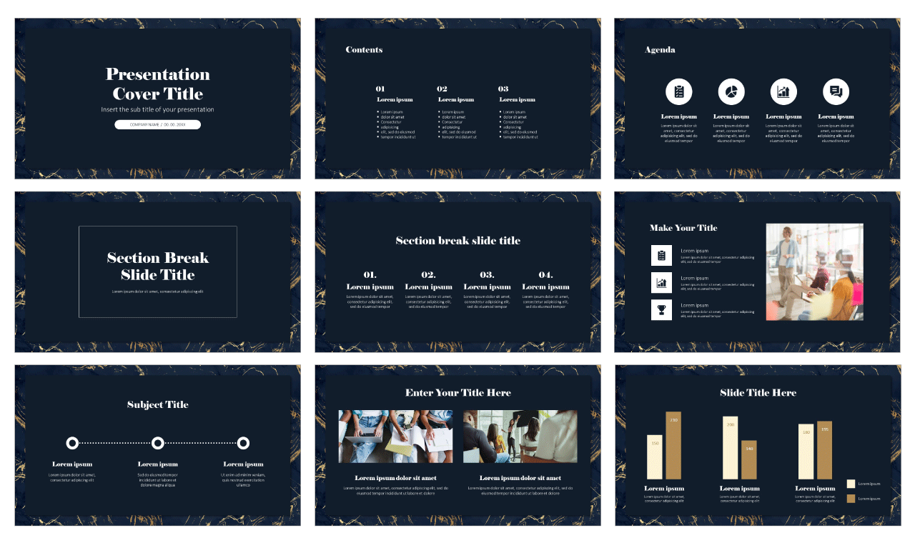 Marble Free PowerPoint Template Google Slides Theme