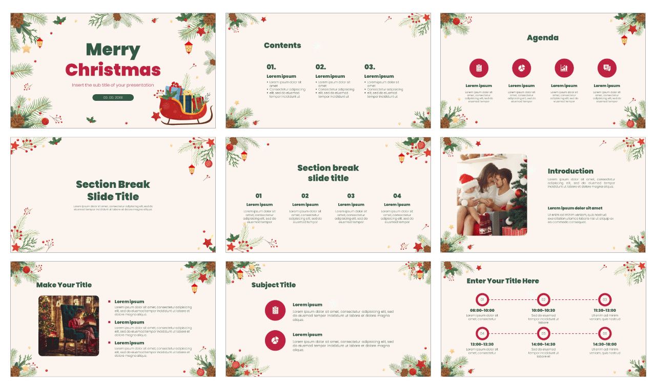 Merry Christmas Free google slides theme and powerpoint template
