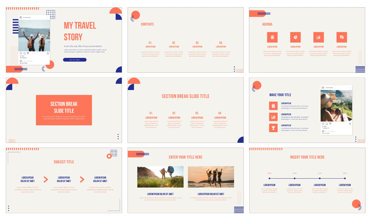 My Travel Story Free PowerPoint Templates and Google Slides Themes