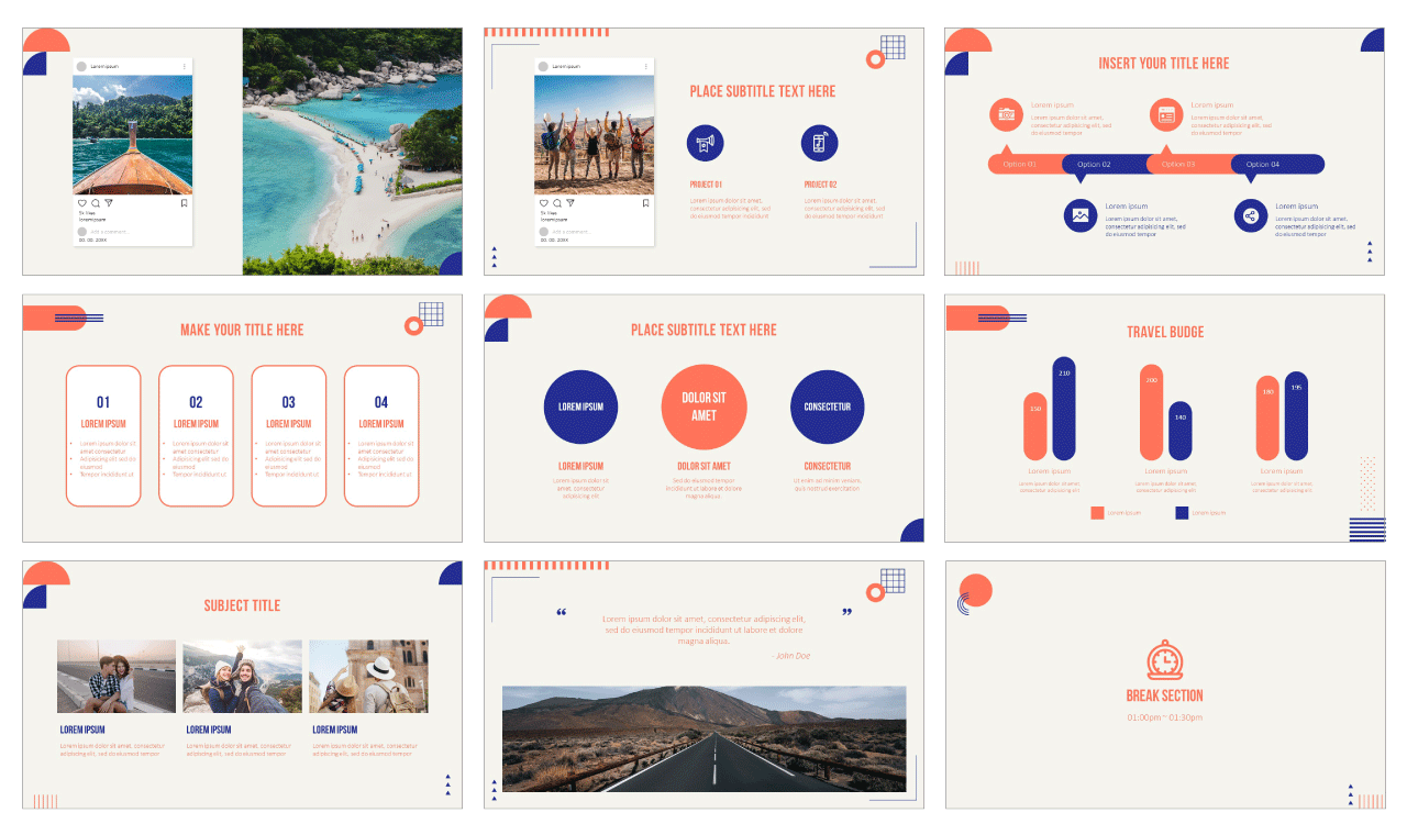 My Travel Story PowerPoint Templates Google Slides Themes Free download