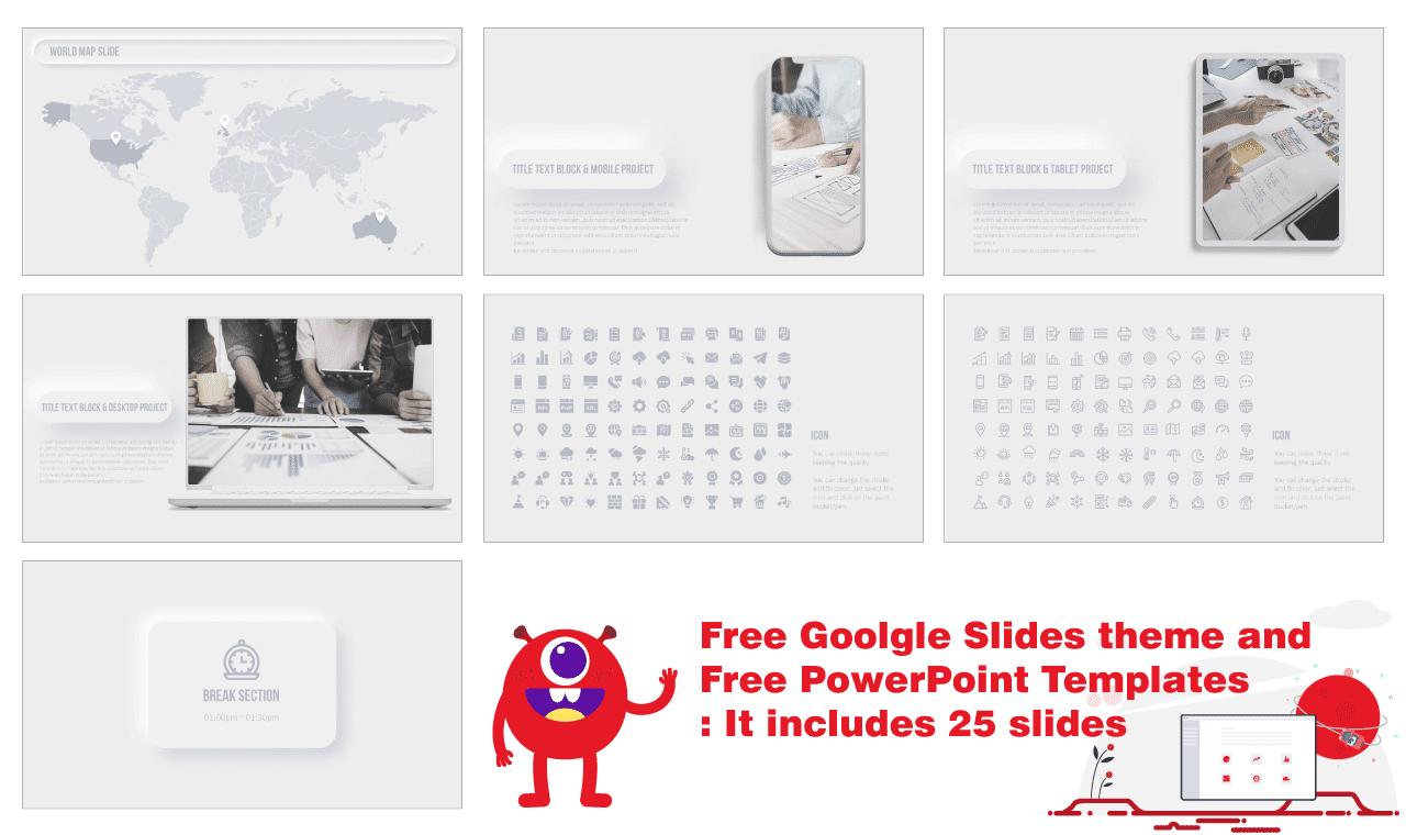 Neumorphism Design Presentation Background Image Free Google Slides Theme PowerPoint Template