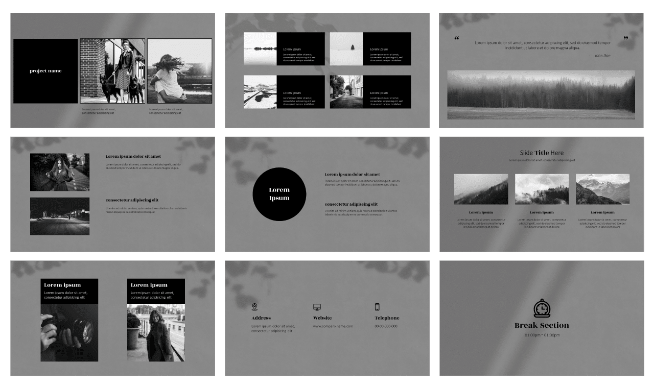 Photographs Google Slides Theme PowerPoint Template Free download